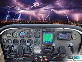 IFR flight training airplane